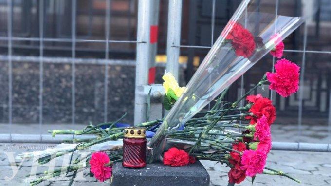 Киевляне почтили память погибших в питерском метро