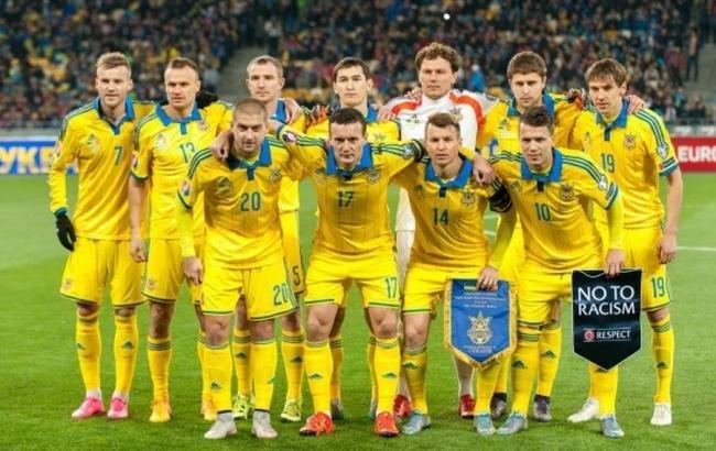 Сборная Украины опустила на 37-е место в рейтинге ФИФА