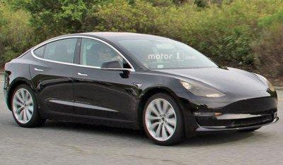 В Сети появилось первое фото бюджетного электрокара «Tesla Model 3»