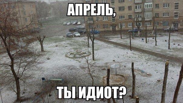 Прикольные демотиваторы на тему «помогай апрелю — ешь снег!»