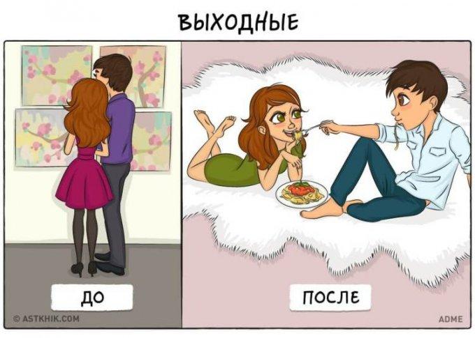 Смешные картинки из серии «до и после свадьбы»