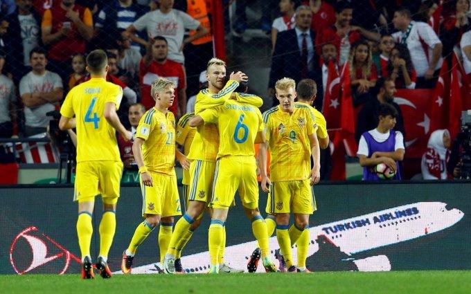 Сборная Украины – 37-я в рейтинге ФИФА