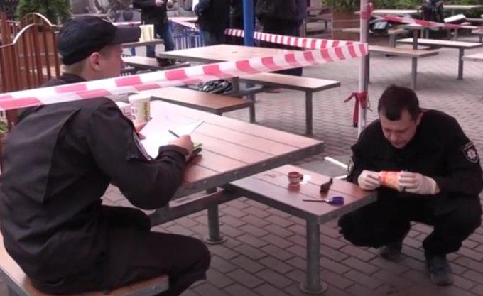 Кадры убийства 34-летнего киевлянина в McDonalds. Видео