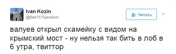 Валуев показал, как на самом деле выглядит «Крымский мост»