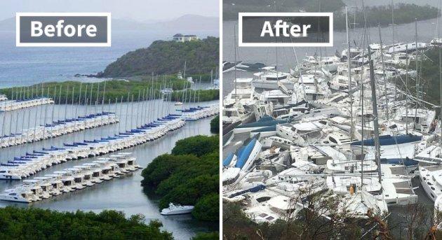 Ошеломляющие изменения островов ДО и ПОСЛЕ урагана Ирма. Фото
