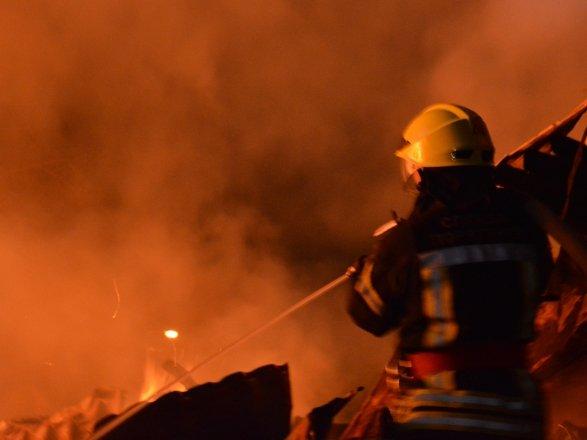 Масштабный пожар в Днепре: дотла выгорел ресторан