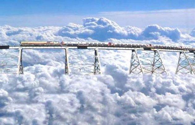 Необычные железнодорожные маршруты для самых смелых. Фото