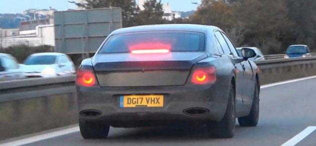 Новый Bentley засекли на дорожных тестах