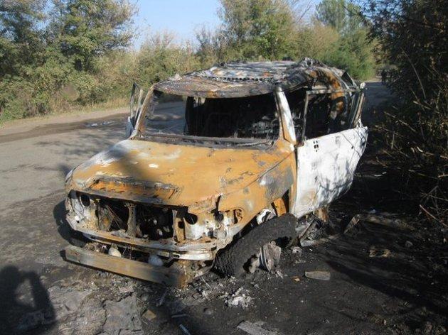 Под Харьковом внедорожник обстреляли с гранатомета
