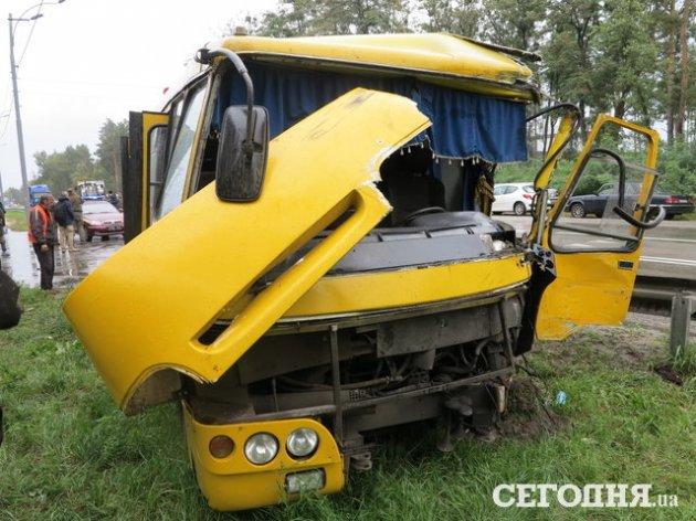 Авария под Киевом с автобусом Нацгвардии: свежие подробности