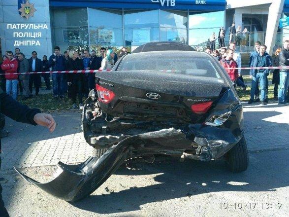 Житель Днепра устроил масштабную аварию с пятью авто