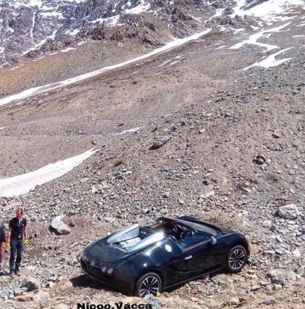 В Сети показали последствия путешествия на гиперкаре по горному бездорожью