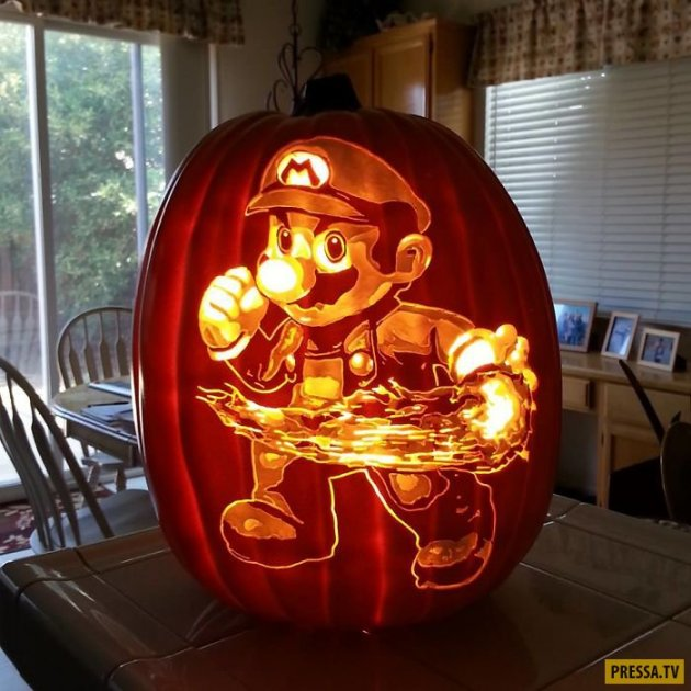 Скоро Хэллоуин: художник создает шедевры на обычных тыквах. Фото