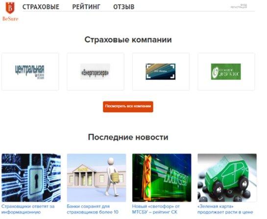 Агрегатор Besure.com.ua: ищем надежного страховщика