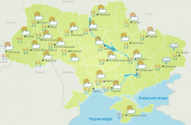 В Украине будет облачно, без осадков: прогноз погоды на неделю