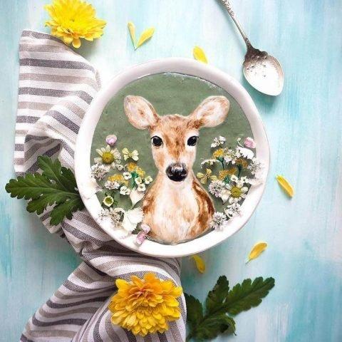 Художница делает из обычных завтраков произведения искусства. Фото