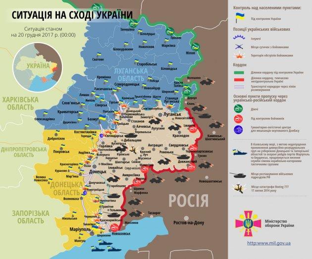 В зоне АТО погиб один боец ВСУ, еще четверо получили ранения