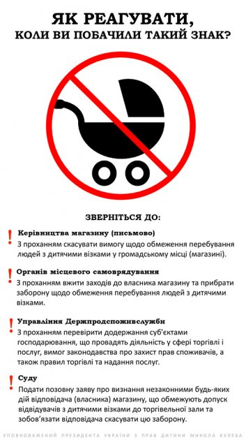 Украинкам объяснили, почему запрет на посещение магазина с коляской незаконен