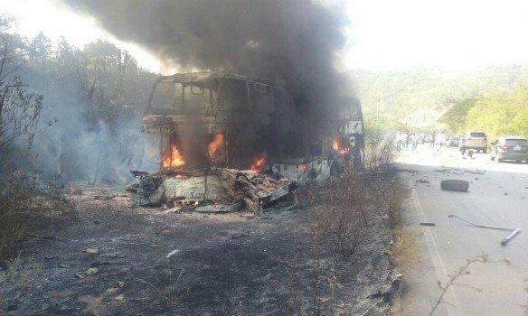 В Венесуэле столкнулись грузовик и автобус: семеро погибших