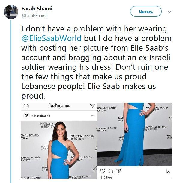 Звезда «Чудо-женщины» попала в скандал с политическим окрасом