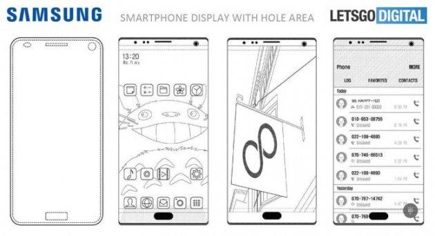Samsung запатентовал необычные дополнения к экрану