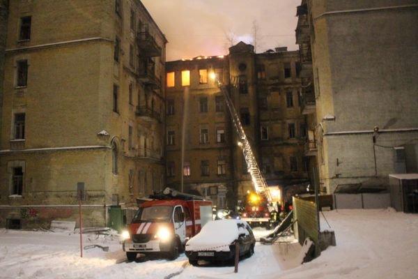 В центре Киева произошел масштабный пожар