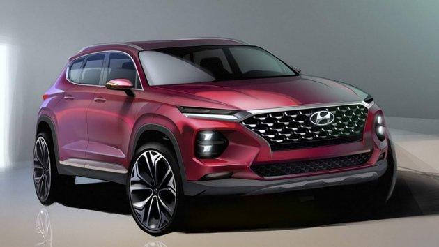 Hyundai показала, как будет выглядеть новый Santa Fe