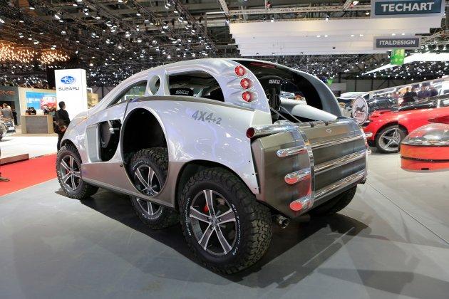 В Женеве показали внедорожник с двумя запасными колесами