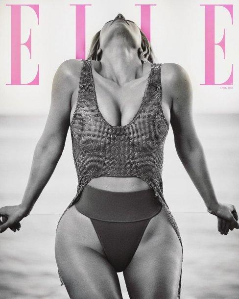 Ким Кардашьян впервые снялась для обложки ELLE