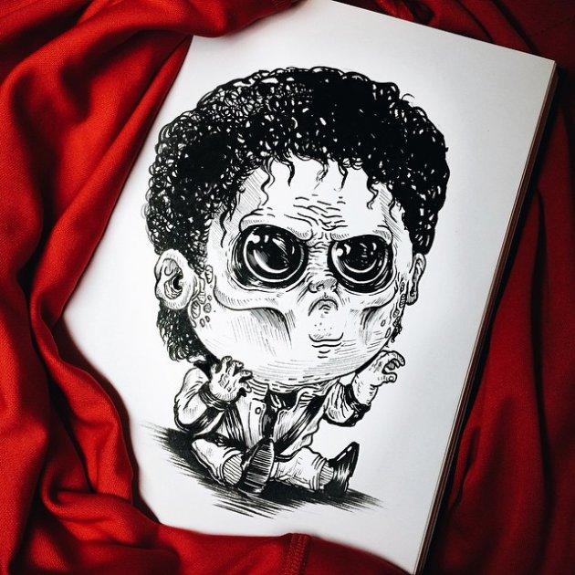 Известные злодеи в детстве глазами американского художника. Фото