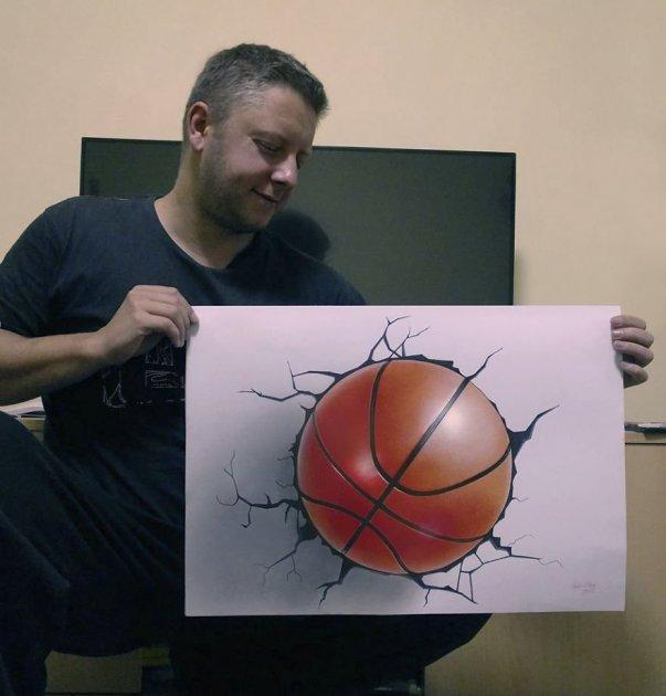Невероятные трехмерные рисунки от сербского мастера. Фото