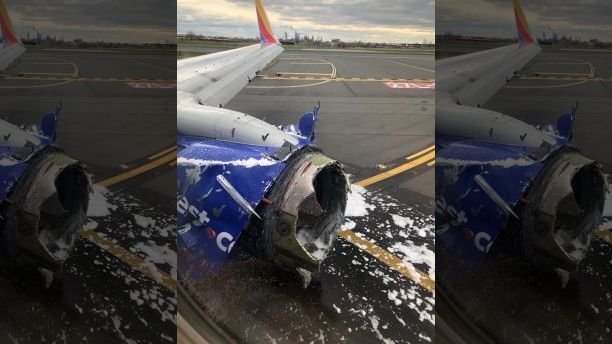 В США у самолета в воздухе взорвался двигатель. Видео
