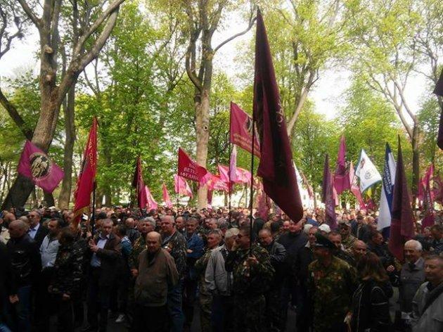Военные пенсионеры пошли штурмовать Кабмин