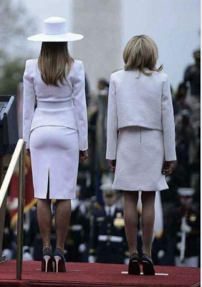 США VS Франция: пикантный снимок первых леди повеселил Сеть