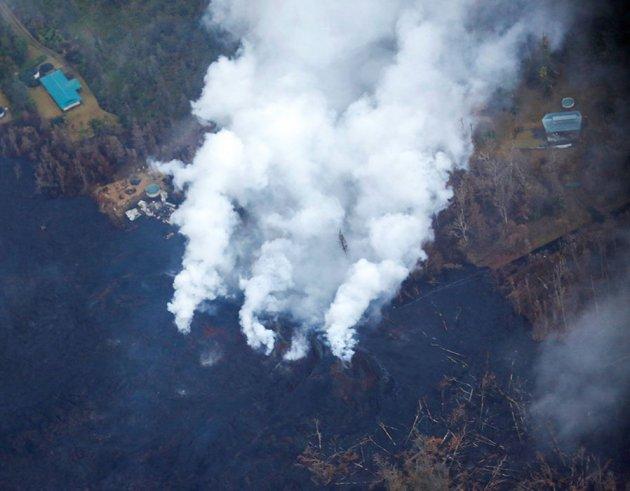 На Гавайях продолжается извержение мощного вулкана. Фото
