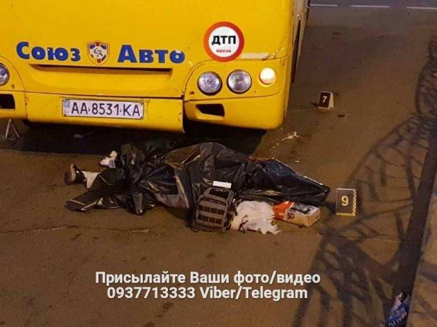 В Киеве произошло смертельное ДТП с участием маршрутки