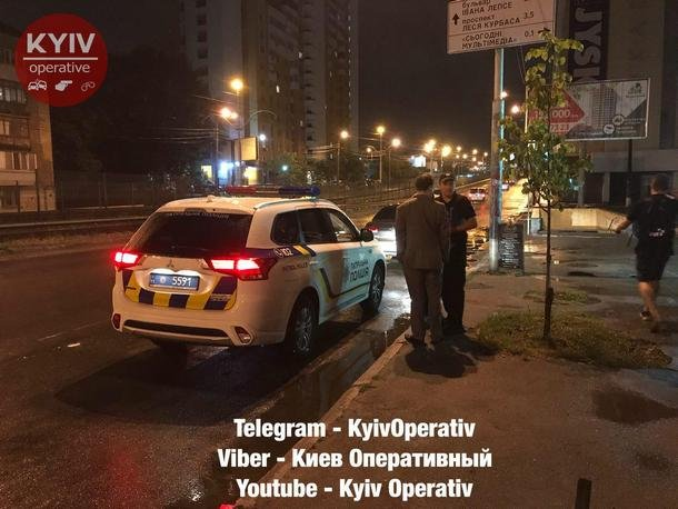 В Киеве российского дипломата поймали пьяным за рулем