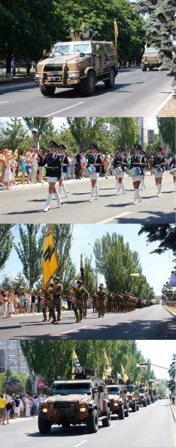 Мариуполь вышел на военный парад