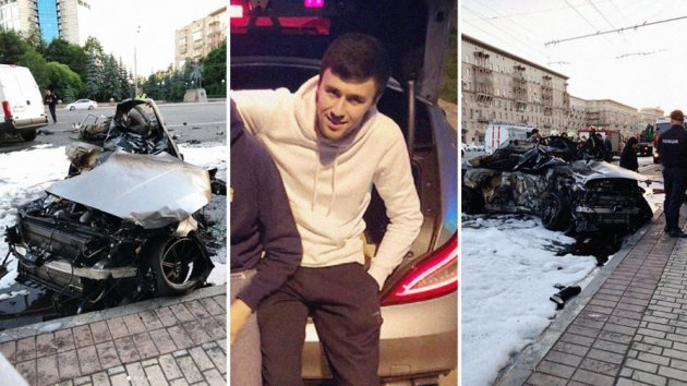 В центре Москвы произошло «огненное» ДТП, есть жертвы. Видео