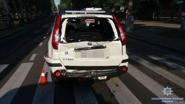 В Николаеве маршрутка с пассажирами врезалась в иномарку