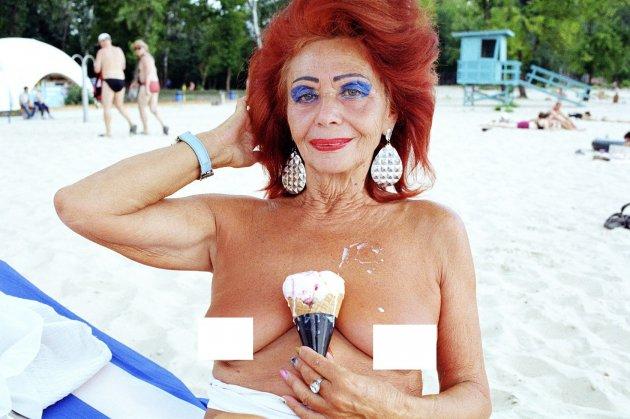 70-летняя киевская тусовщица решилась на откровенные фото