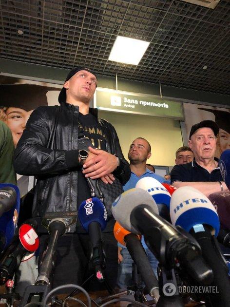 В киевском аэропорту встретили Усика. Видео