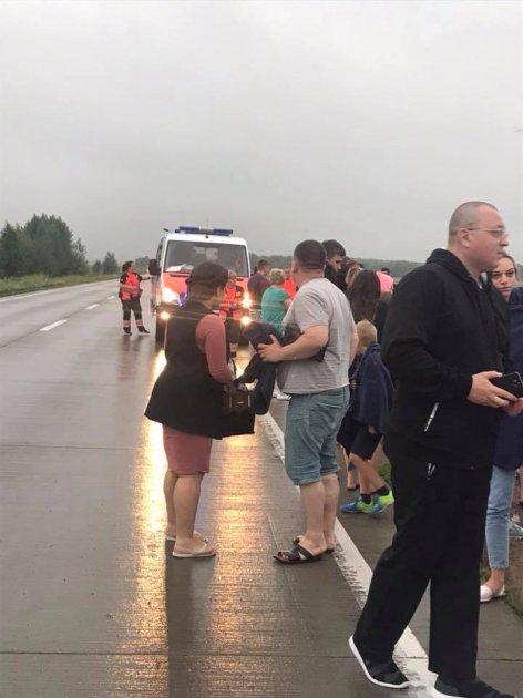 На Киевщине автобус с пассажирами вылетел в кювет