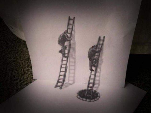 Голландський художник створює роботи, ошукуючі зір. Фото