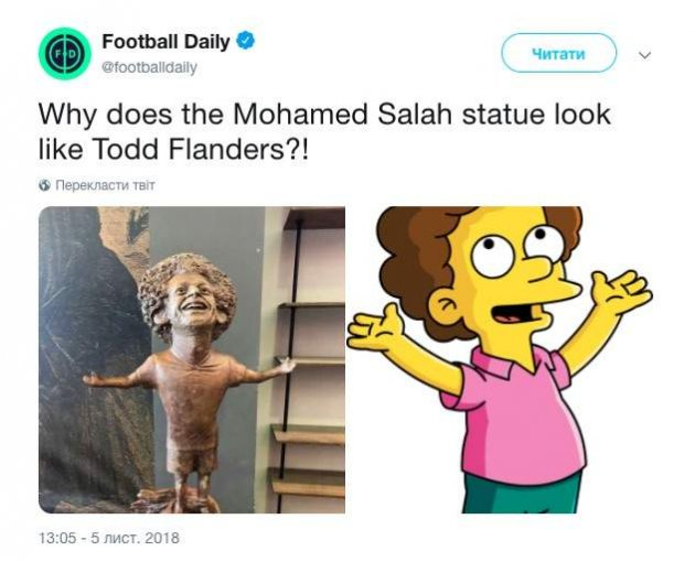У Єгипті відомому футболісту присвятили безглузду скульптуру