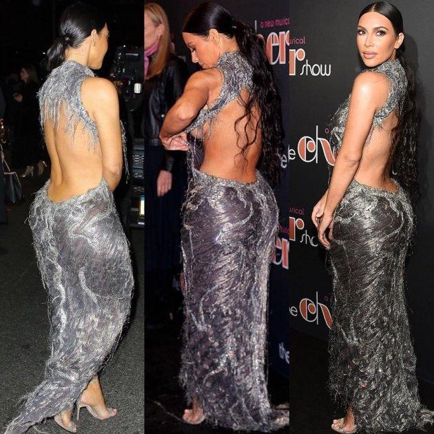 Підвело вбрання: Кім Кардашьян «засвітила» груди на Бродвеї. Фото
