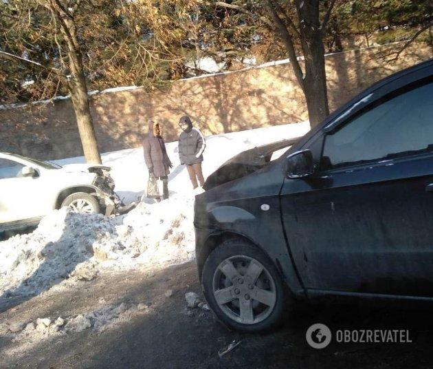 В Киеве произошел масштабный автобоулинг: первые фото ДТП