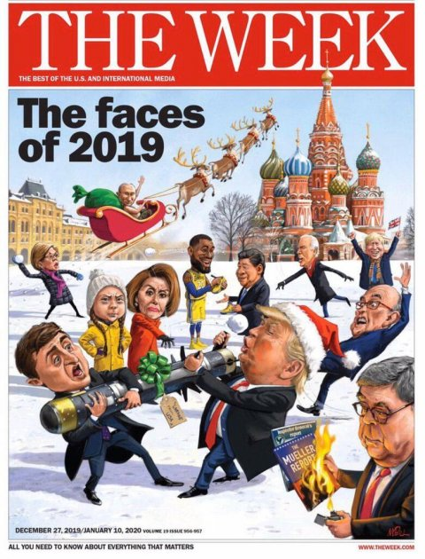 Карикатура на Зеленського та Трампа потрапила на обкладинку The Week